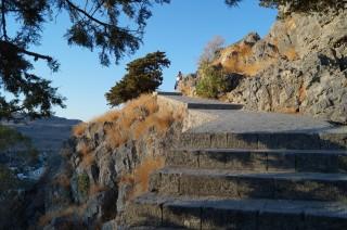 Подъем в крепость в Линдосе