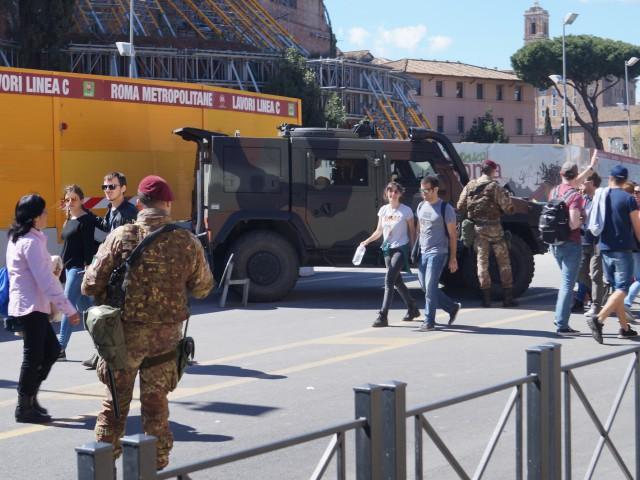 Военные в Риме